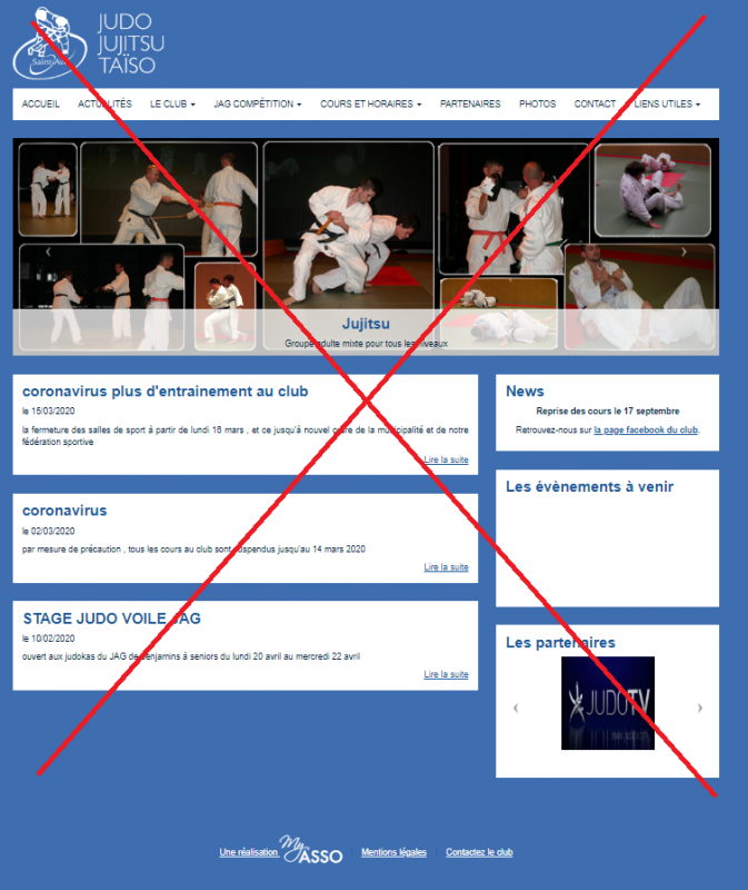 Ancien site internet essa judo